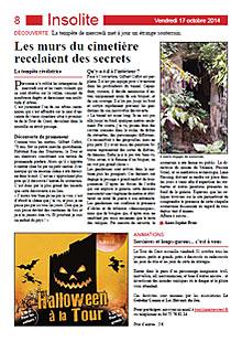 Article de la Gazette de Crest du 17 octobre 2014