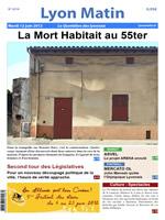 Une de Lyon Matin du 12 juin 2012.
